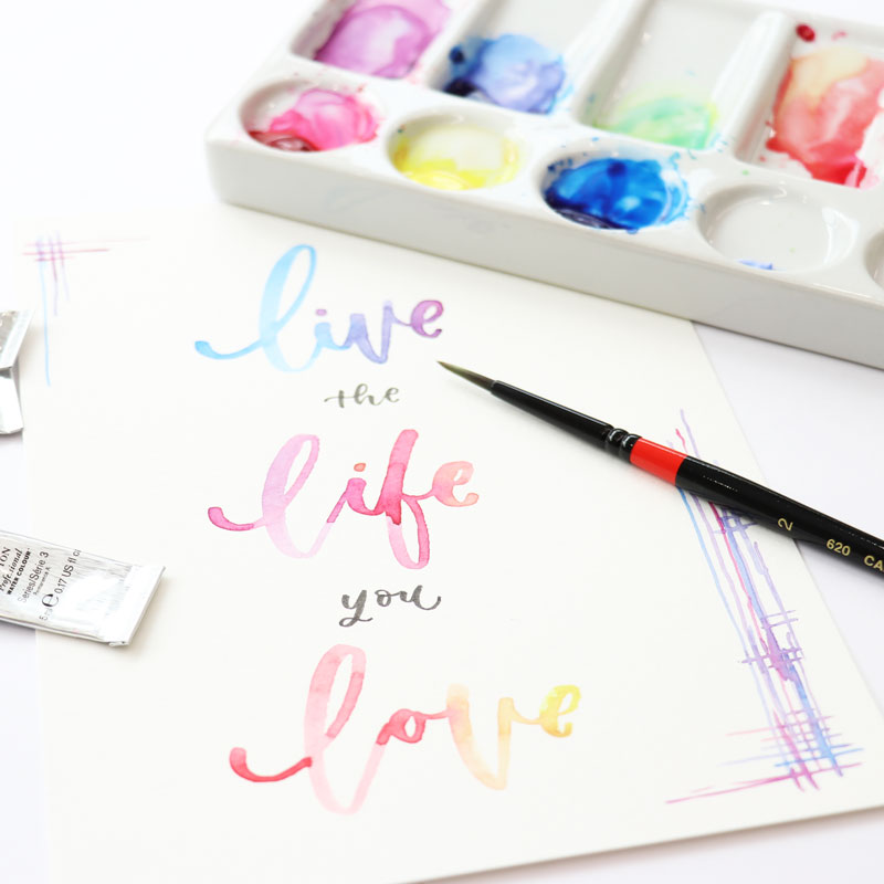 Watercolor Lettering: Advanced Applications