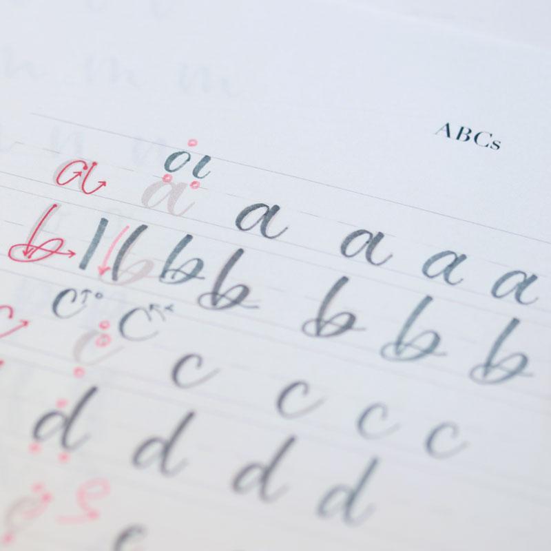 「筆之助」を使ったレタリング 小文字