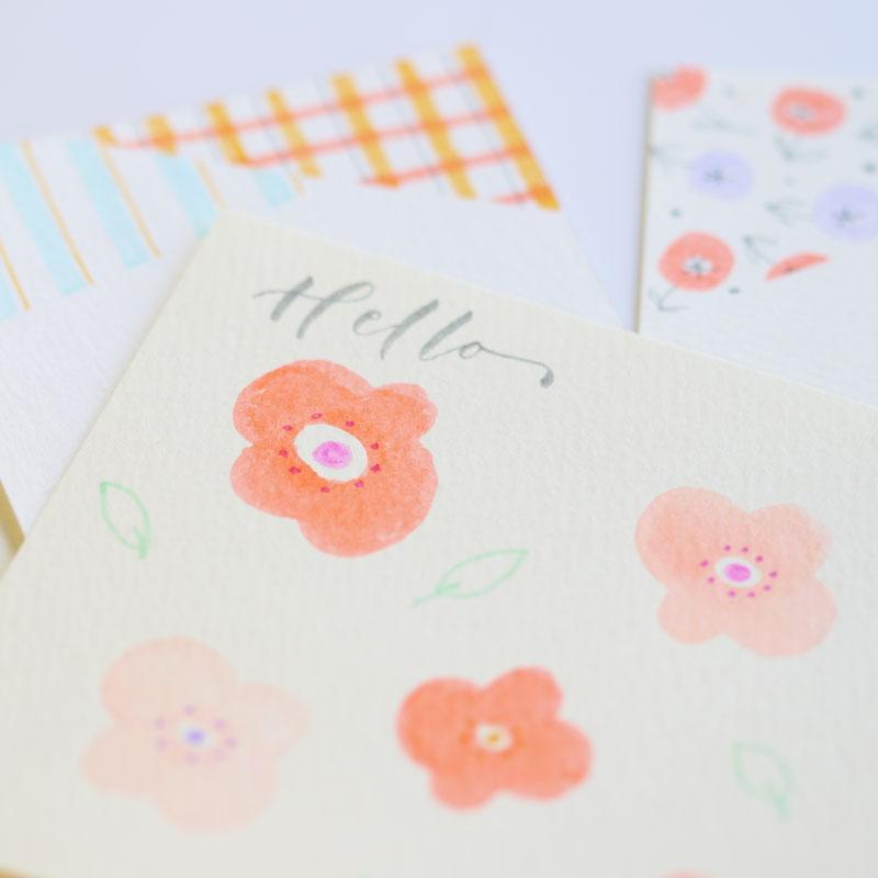 「ABT」を使ったかんたんなお花で描くカード