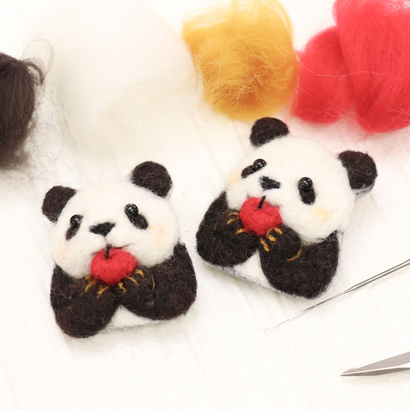 Munching Panda Brooch