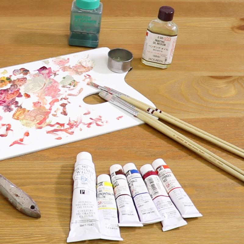 油彩・りんごの描き方